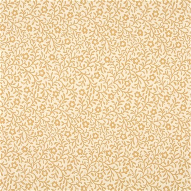 Designer Fabrics F424 54 in. Wide Gold And Beige Floral Matelasse Reversible Upholstery Fabric