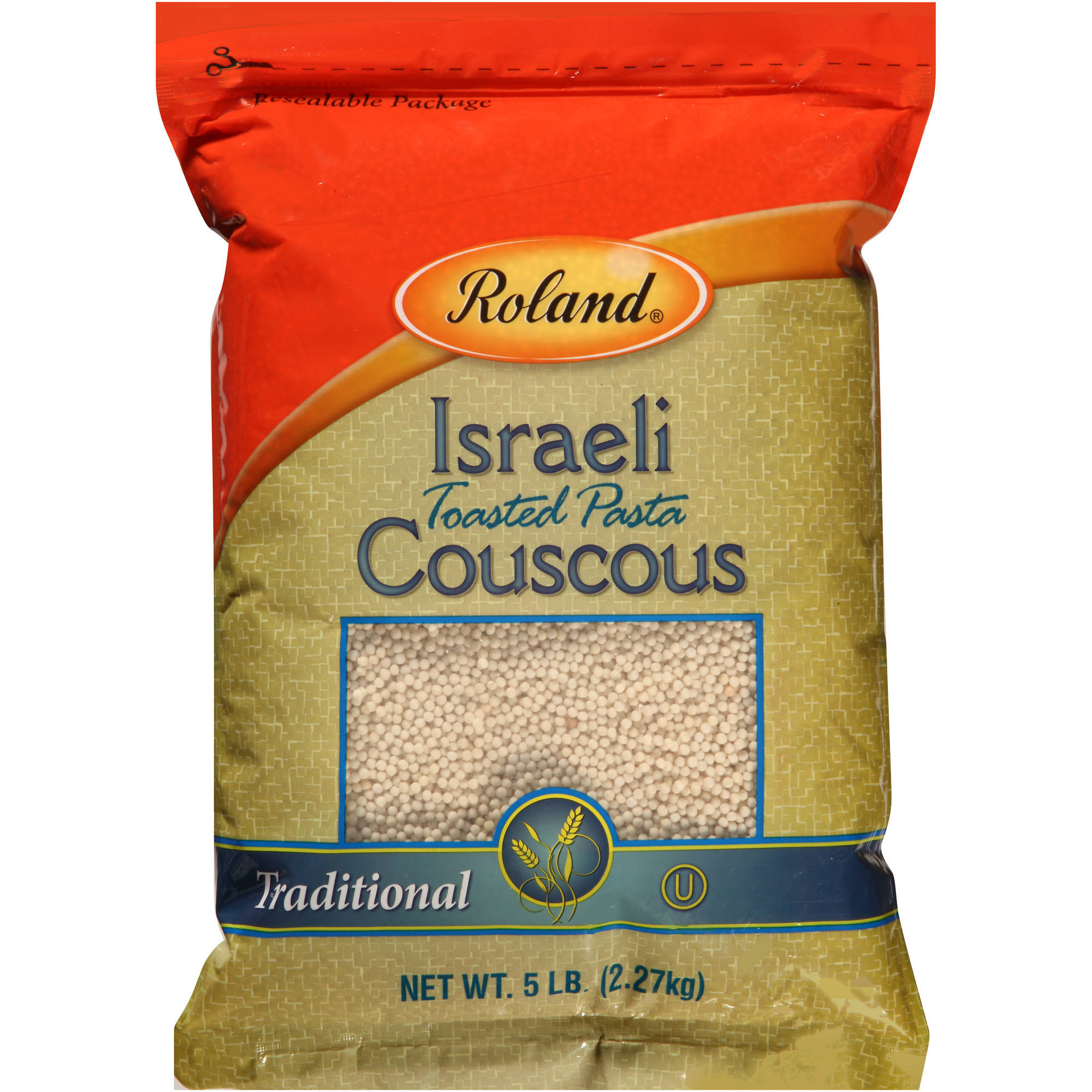 Roland Israeli Toasted Pasta Traditional Couscous, 5 lb
