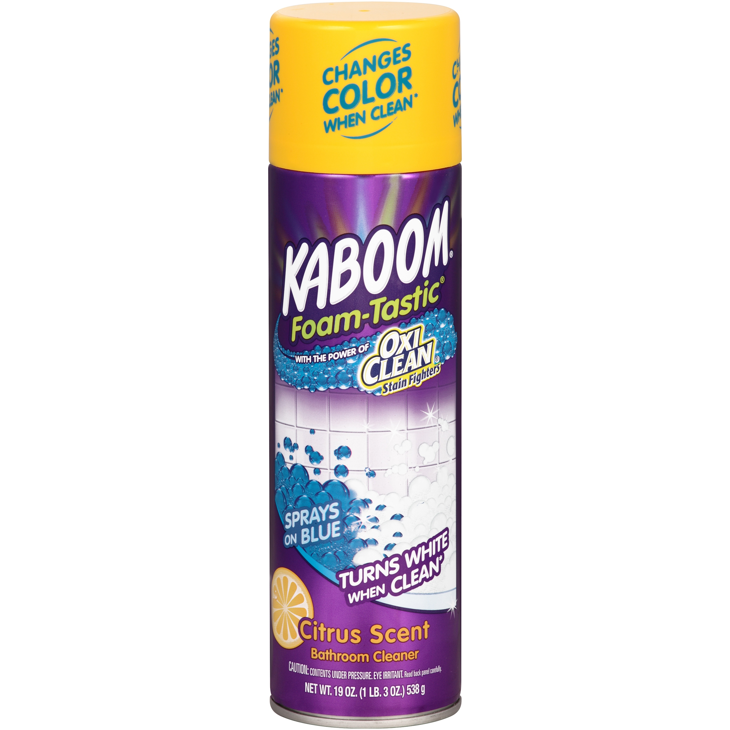 (2 Pack) Kaboom™ Foam-Tastic™ Lemon Citrus Scent Bathroom Cleaner 19 oz. Aerosol Can