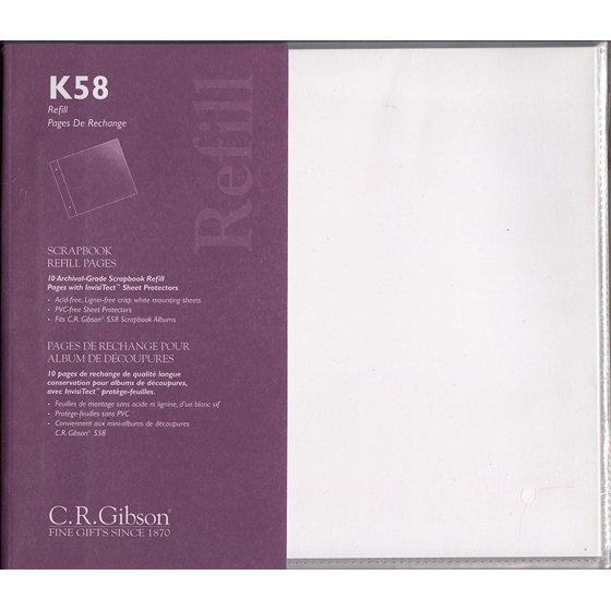 K58 Scrapbook Refill Pages 10 Pages Per Pack By Gibson Walmart