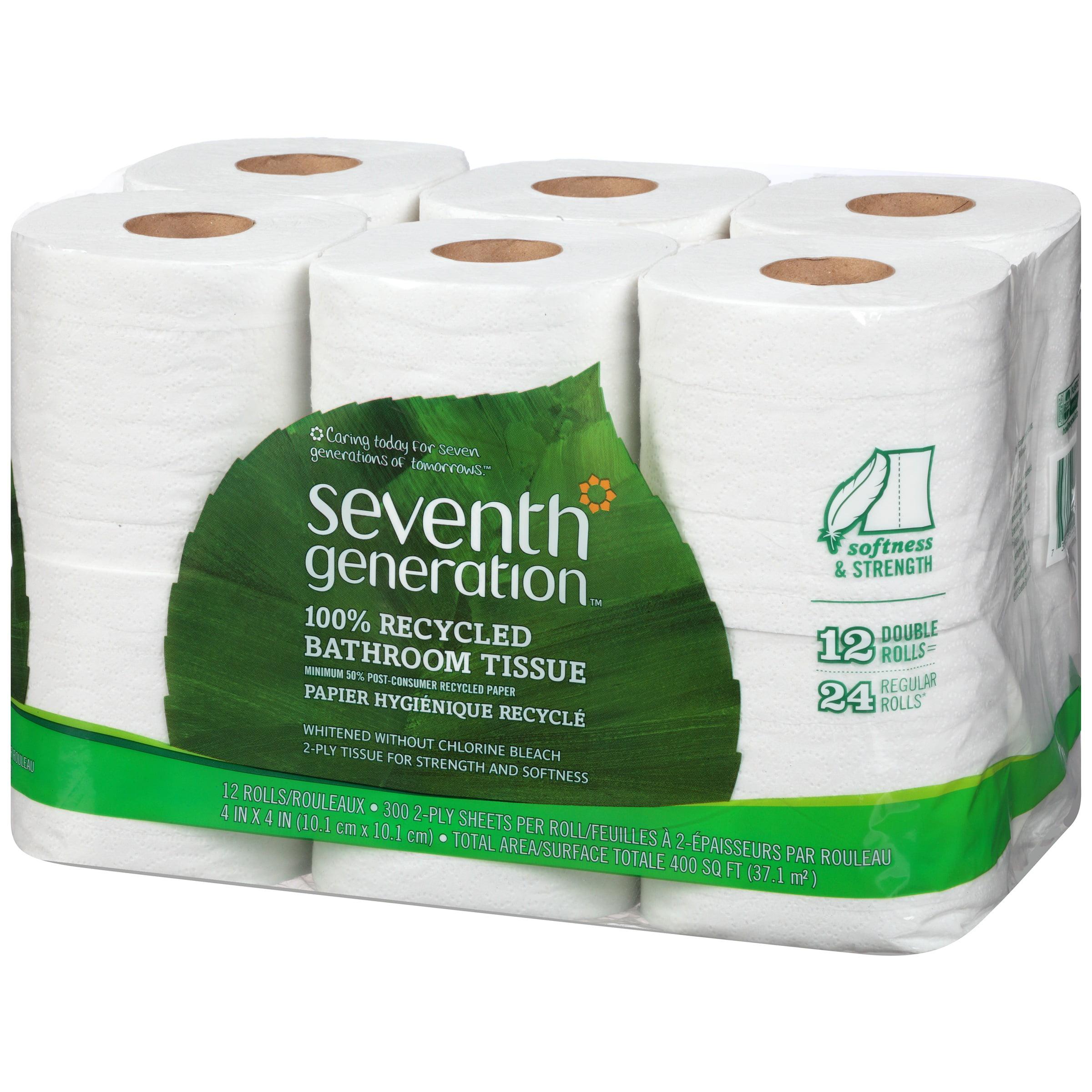 . Seventh Generation 100 Pct Recycled Bathroom Tissue   Walmart com