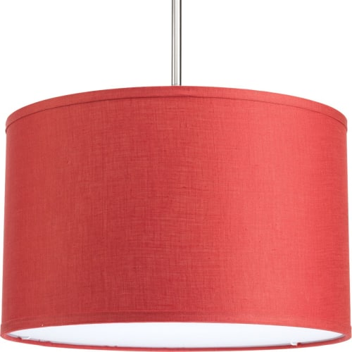 """Progress Lighting P8829 Markor Drum Shade with Linen Fabric for Use with P5198 or P5101 Single-Light Stems or P5199 or P5107 Three-Light Stems - 16"""" Wide"""