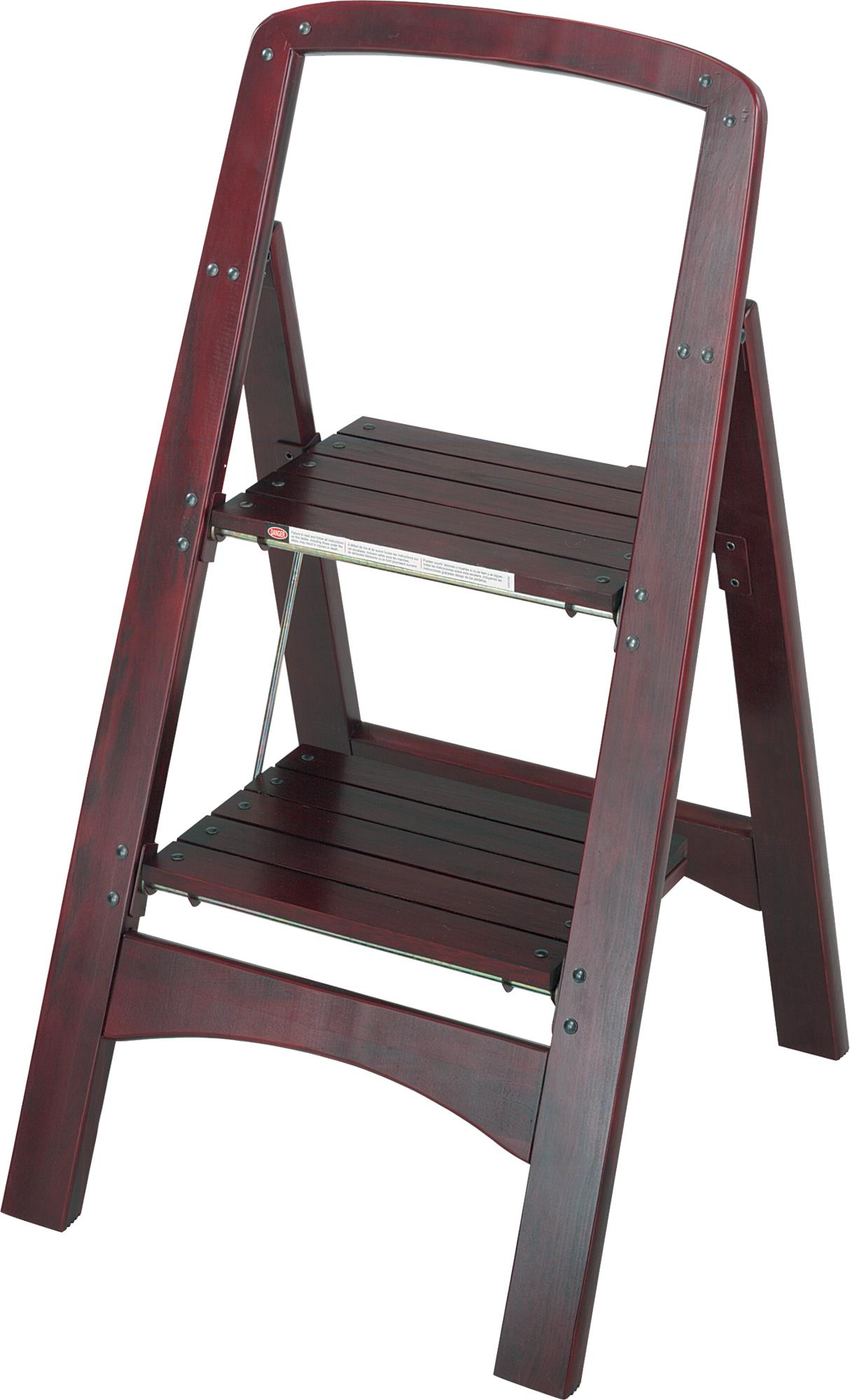 Attirant Cosco Rockford Series Two Step Stool, Mahogany   Walmart.com