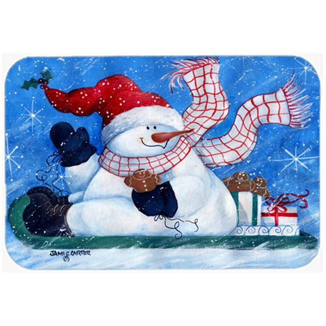 Carolines Treasures PJC1078JCMT Come Ride With Me Snowman Kitchen & Bath Mat, 24 x 36 in. - image 1 de 1