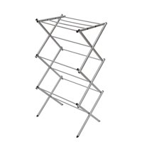 StorageManiac 3-tier Folding Water-Resistant Compact Steel Clothes Drying Rack