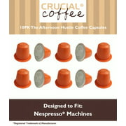 10 High Performance Replacement Coffee Capsules for Use in Most Nespresso Machines, The Afternoon Hustle is Designed & Engineered by Crucial Coffee