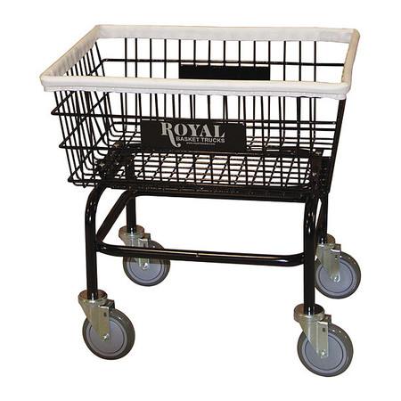 Laundry Cart,3.4 cu ft,No Hanger ROYAL BASKET TRUCK G27-BKX-W0A-5UNN