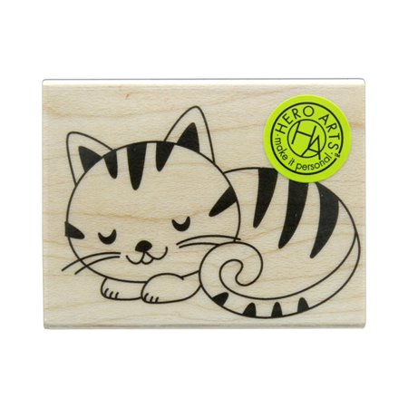Wood Stamp Fashion - HROE6216 HERO ARTS WOOD STAMP SLEEPING KITTY