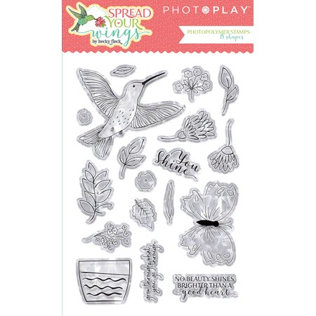 Photoplay Photopolymer Stamp-Spread Your Wings - image 1 of 1
