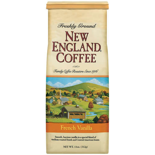 New England Coffee: Freshly Ground 100% Arabica Coffee French Vanilla, 11 oz