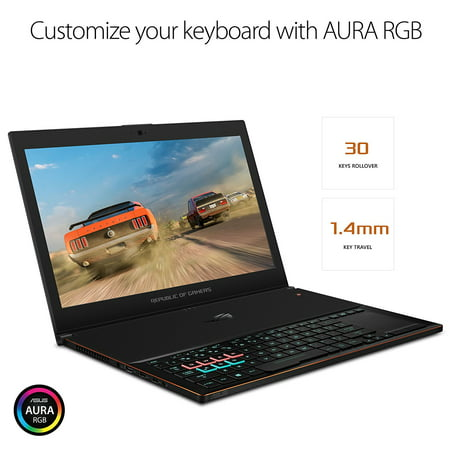 "ASUS ROG Zephyrus GX501 15.6"" Full-HD 120Hz Ultra-portable Gaming Laptop, GTX 1070, Intel Core i7, 256GB PCIe SSD, 16GB (Asus Rog Zephyrus Gx501 Price In India)"