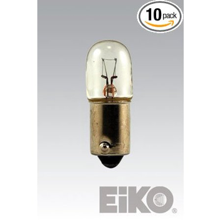 Bayonet Base Miniature Lamp (- 755 Mini Indicator Lamp - 6.3 Volt - 0.15 Amp - T3.25 Bulb - Miniature Bayonet Base - 10 Pack, Amps: .15 By Eiko )