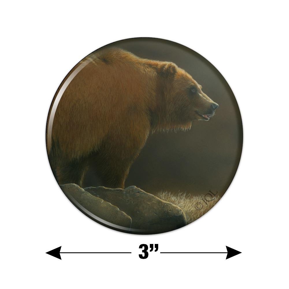 Grizzly Bear In The Morning Glow Kitchen Refrigerator Locker Button Magnet Walmart Com Walmart Com