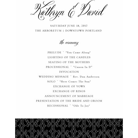 Elegant Script Standard Program - Fan Wedding Programs