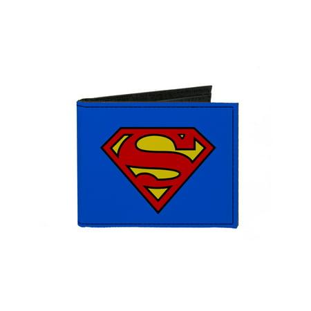 Superman DC Comics Comic Book Superhero S Logo Canvas Bi-Fold Wallet