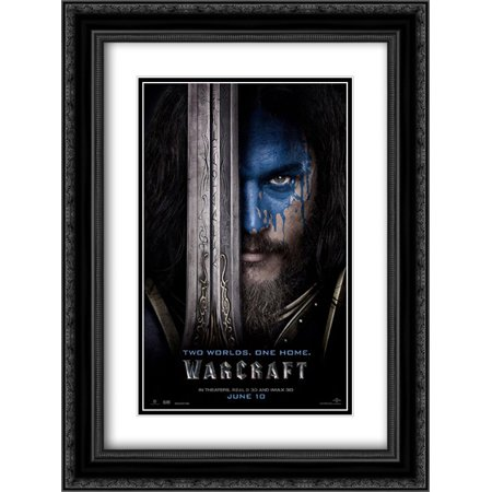 Warcraft 18X24 Double Matted Black Ornate Framed Movie Poster Art Print