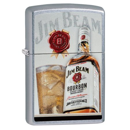 *Zippo Street Chrome 29124 Jim Beam Whiskey Lighter