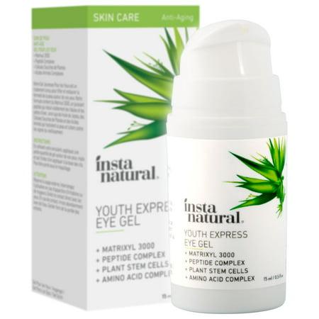 InstaNatural Eye Gel Cream, For Dark Circles, Wrinkles & Puffy Eyes, 0.5 (Vine Vera Resveratrol Dark Circle Eye Cream)