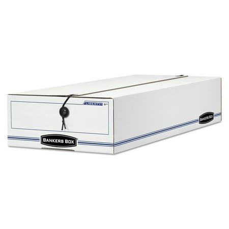 Bankers Box 00009 Liberty Basic Storage Box, Check/voucher, 9 X 14 1/4 X 4, White/blue, 12/carton