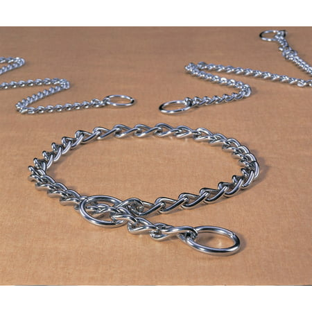 Heavy Dog Choke Chain (Hamilton Pet Company-Heavy Choke Chain Dog Collar- Silver 22 In )