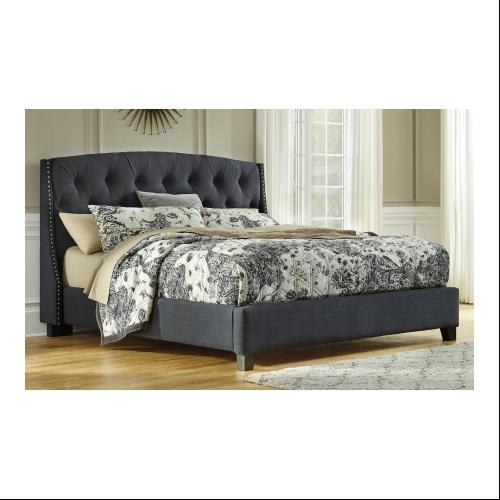 Ashley B600556558597 Kasidon King Size Upholstered Bed with Hand ...