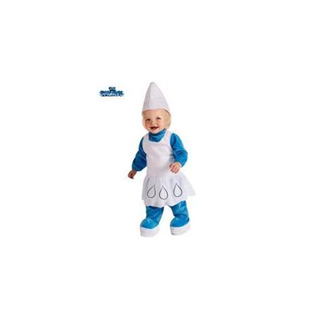 Kids Smurfette Costume (Smurfs Smurfette Costume Romper Dress Infant)