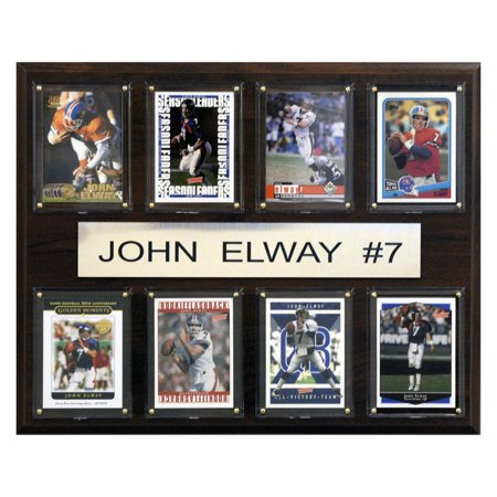 Denver Broncos Parking Sign - C&I Collectables NFL 12x15 John Elway Denver Broncos 8-Card Plaque