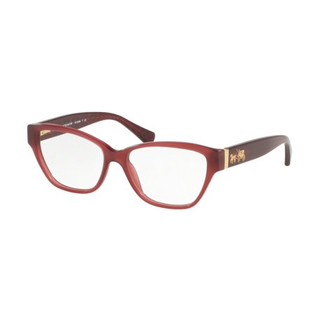 Coach 0HC6088 Optical Full Rim Cat Eye Womens Eyeglasses - Size 54 (Cherry Bordeaux / (Coach Glasses On Sale)