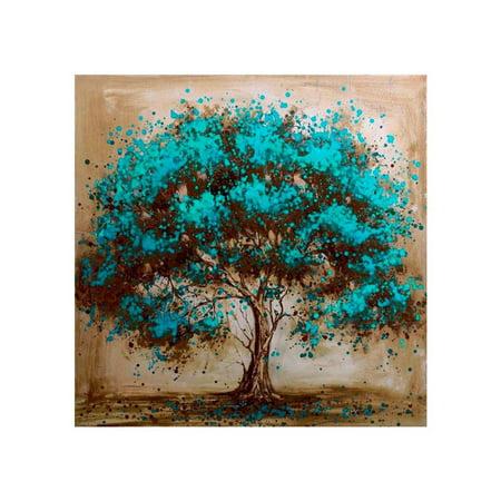 Blue Tree Painting Diamond Rhinestone Embroidery Needlework 5D DIY Stitchwork Drawings Cross-stitch Pictures ()