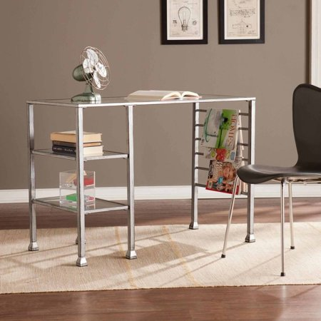 Southern Enterprises Redden Metal/Glass Writing Desk, Multiple Colors ()