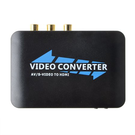 S-video Component Video Converter - JerGO 3RCA AV CVBS Composite & S-Video R/L Audio to HDMI Converter Adapter Upscaler Support 720P/1080P with 3RCA S-Video Cable for DVD VCR PS2 PS3 Xbox HDTV