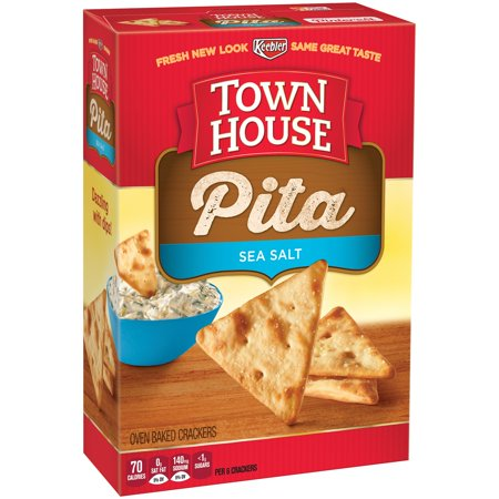 Keebler  Town House  Pita Sea Salt Crackers 9 5 Oz  Box