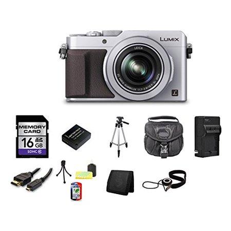 Panasonic LUMIX DMC-LX100 Digital Camera (Silver) Bundle