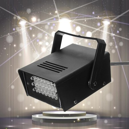 Club 50 Miami Halloween (3W 220V Mini 24 High-Power LED Stage Light Strobe Flash Light For Disco KTV Birthday Wedding Bar Club Home Christmas Halloween)