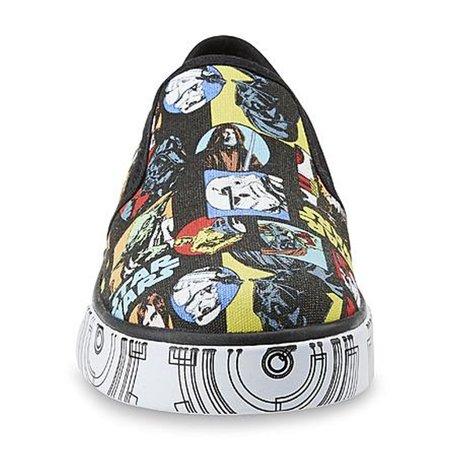 Star Wars Boy's Black/Multicolored Slip-On - Star Wars Shoes Mens