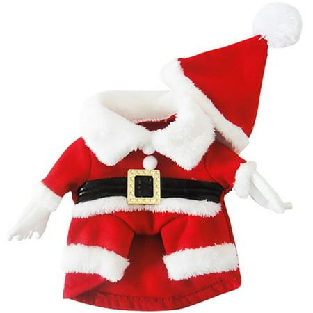 Dog Christmas Jumper Puppy Pet Santa Elf Shirt Xmas Clothes Apparel Outfits ()