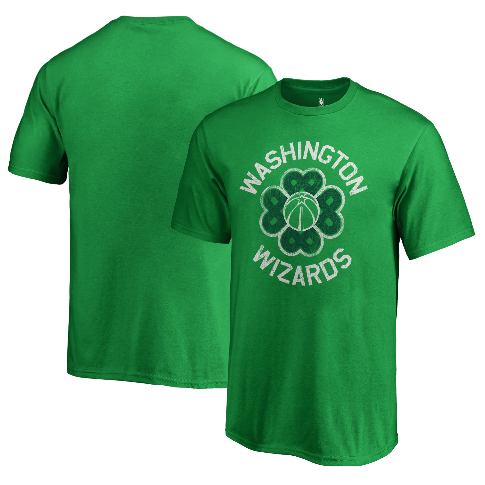 Washington Wizards Fanatics Branded Youth St. Patrick's Day Luck Tradition T-Shirt - Kelly Green