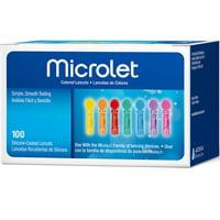 MICROLET Color Lancets, 100 Ct