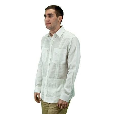 Mexican Wedding Shirt.Men S Mexican Wedding Shirt Linen Guayabera Shirt Size L Color Wh