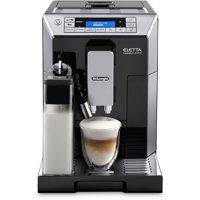 DeLonghi Eletta Cappucino Top with Latte Crema System in Black/Chrome