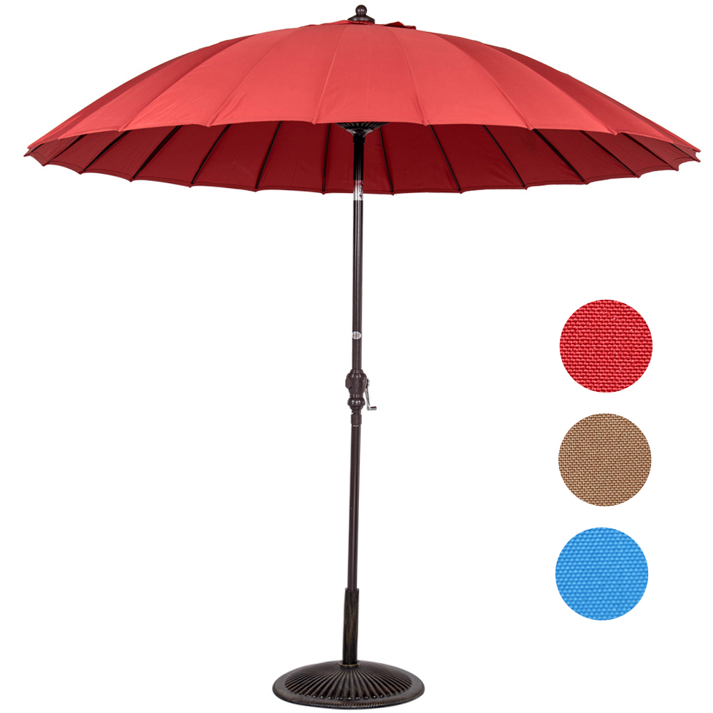 Sundale Outdoor Patio Garden 9ft Outdoor Market Umbrella with 24 Fiberglass Ribs and UV Resistant Fabric Polyester