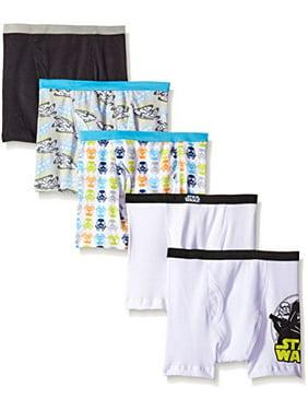 Star Wars Boys Boxer Briefs, 5 Pack