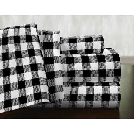 Pointehaven Milton 100pct Cotton Flannel Sheet Set
