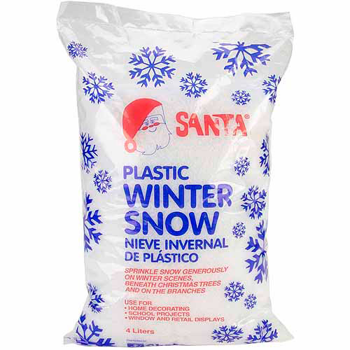 Chase 499-0511 Plastic Winter Snow, 6-Ounce Multi-Colored