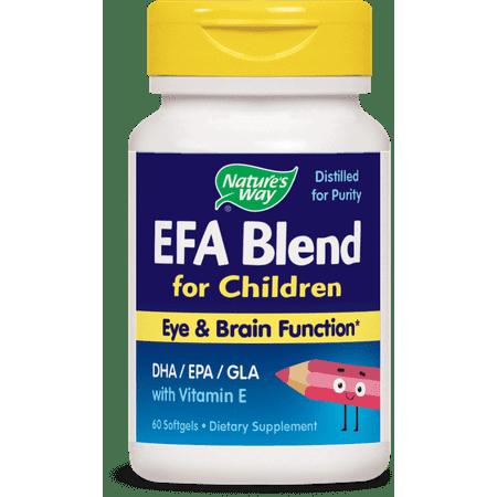 Blend Softgel - Nature's Way EFA Blend for Children with Vitamin E Softgels, 60 Ct