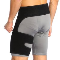 Yosoo Groin Support Adjustable Neoprene Thigh Compression Wrap Hip Support Brace for Pulled Hamstring, Sciatica Nerve Pain , Muscle Strain Tendonitis Fits Men Women