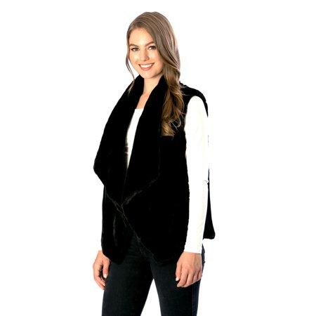Women's Plush Faux Fur Vest Top Outerwear