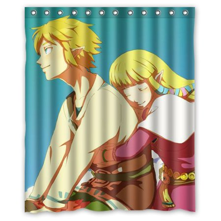 DEYOU Legend Of Zelda Shower Curtain Polyester Fabric Bathroom Size 60x72 Inch