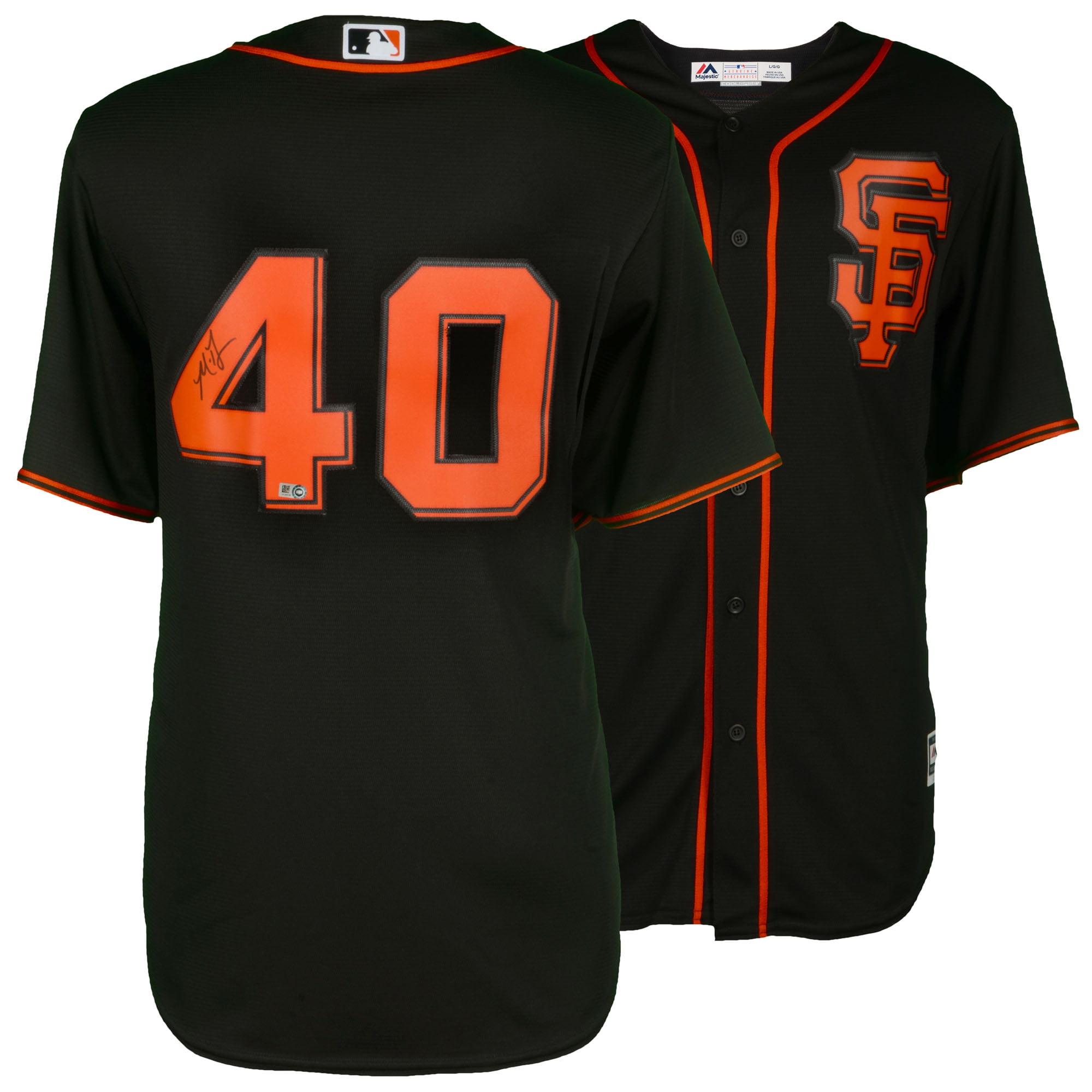 Madison Bumgarner San Francisco Giants Fanatics Authentic Autographed Majestic Black Replica Jersey - No Size