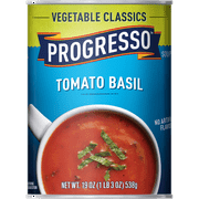 (8 Pack) Progresso Soup, Vegetable Classics, Tomato Basil Soup, 19 oz Can